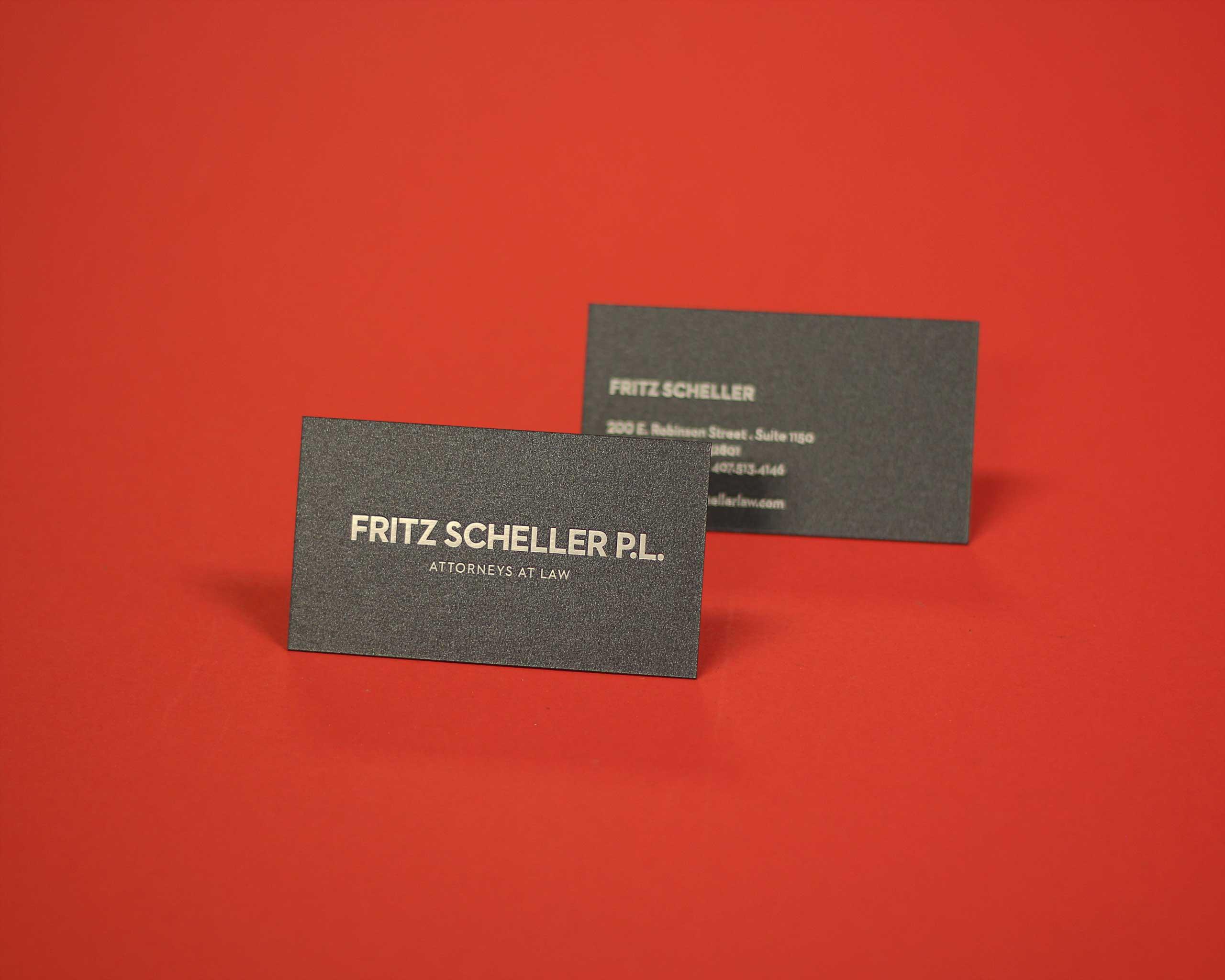 Fritz Scheller screen printed business cards