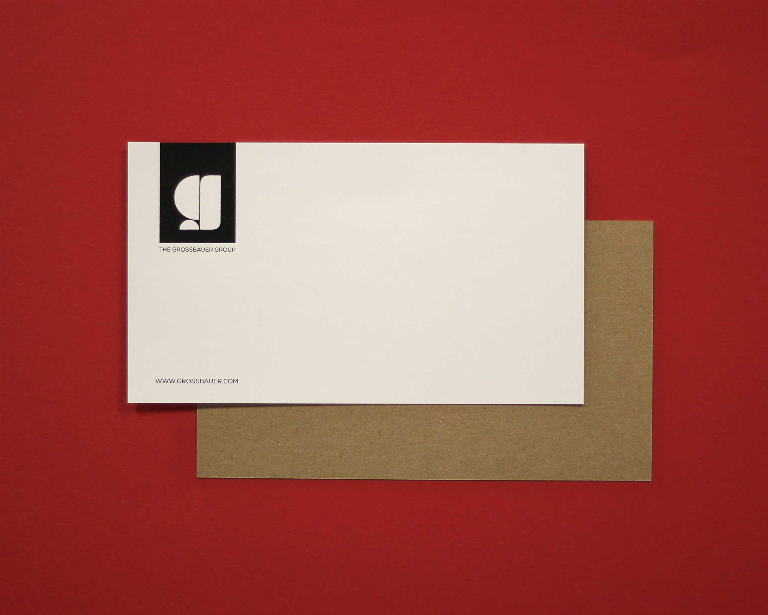Grossbauer Group screen printed business cards