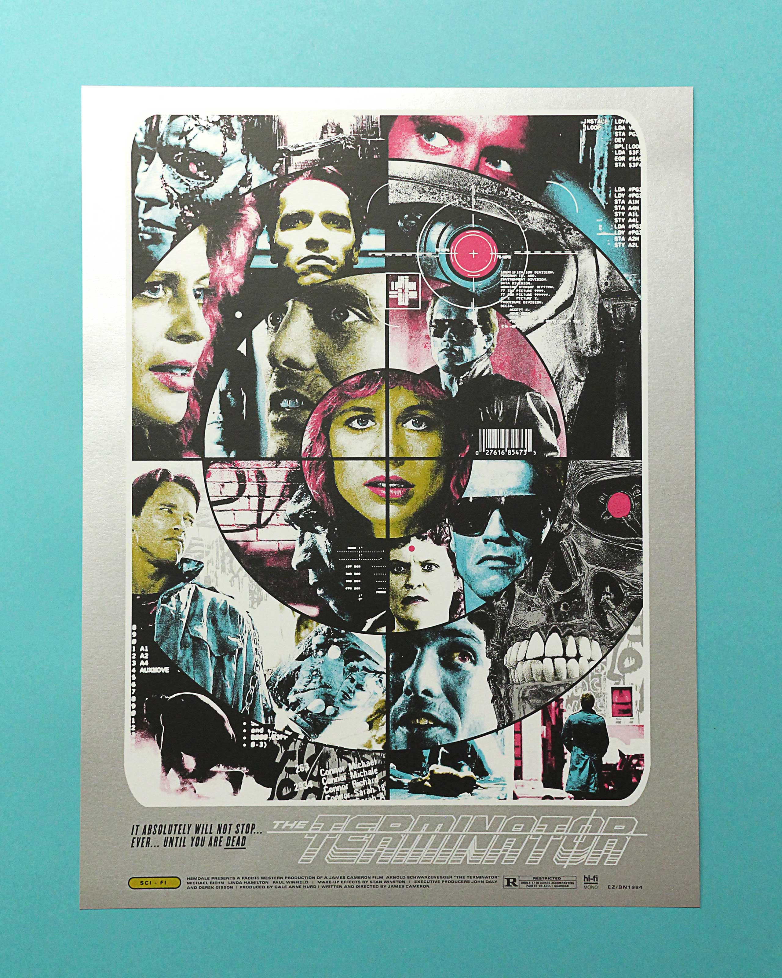 Kyle Crawford Terminator screen printed poster