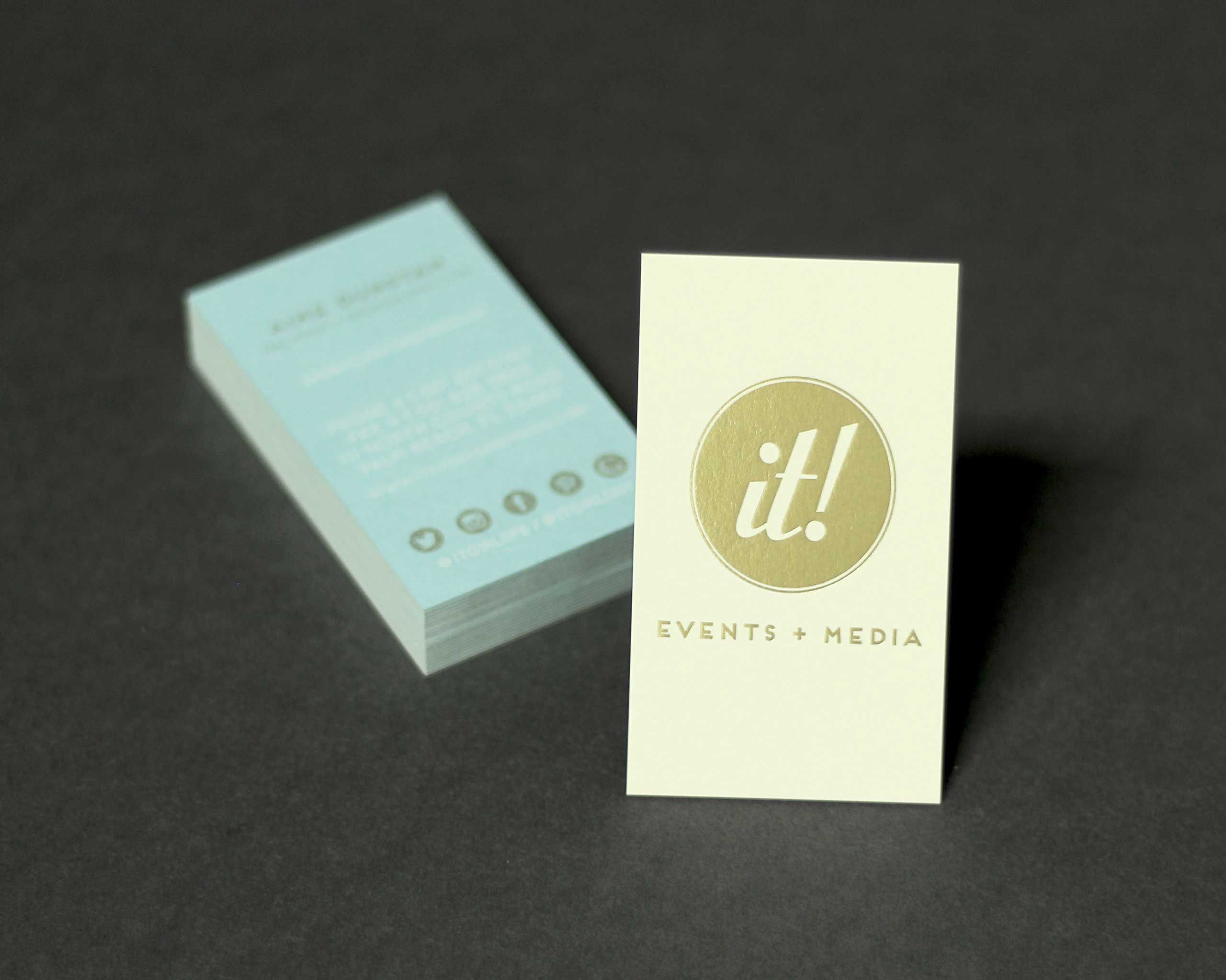 Lillian It! screen printed business cards