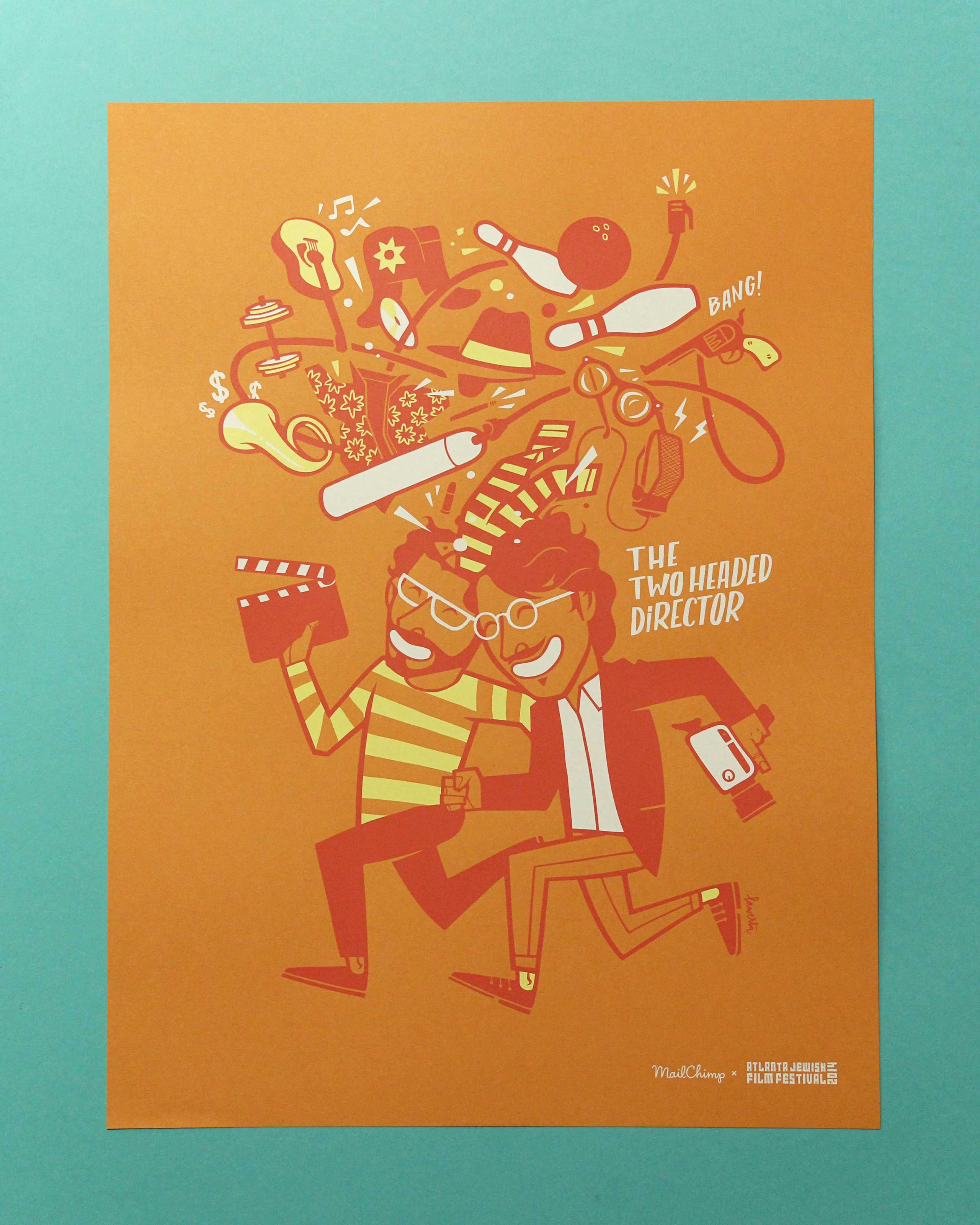 MailChimp Coen Brothers screen printed poster