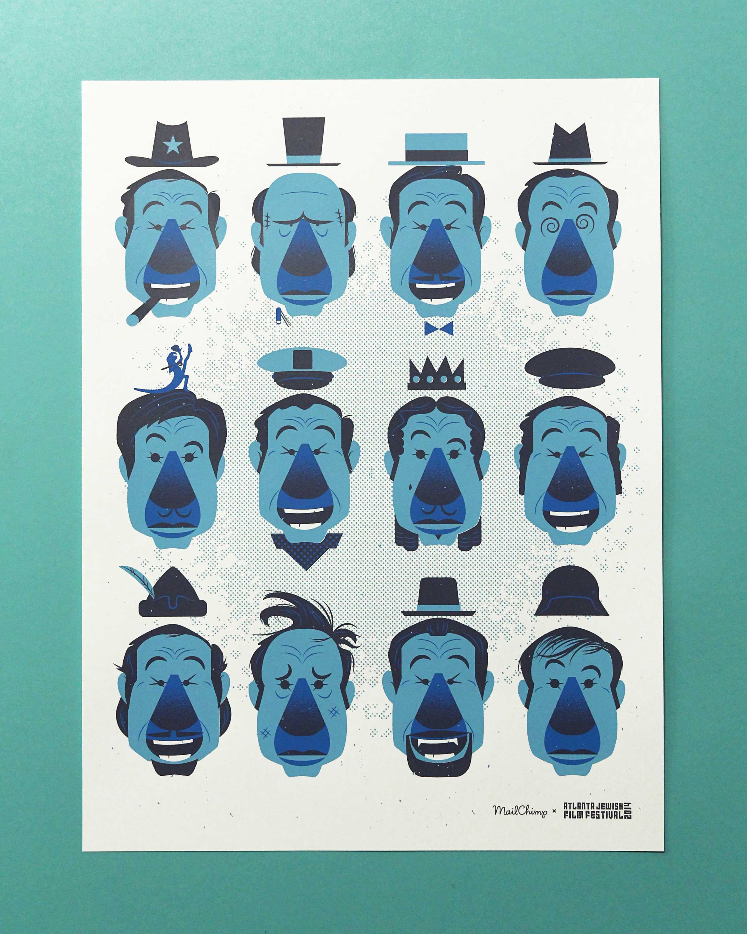 MailChimp Mel Brooks screen printed poster