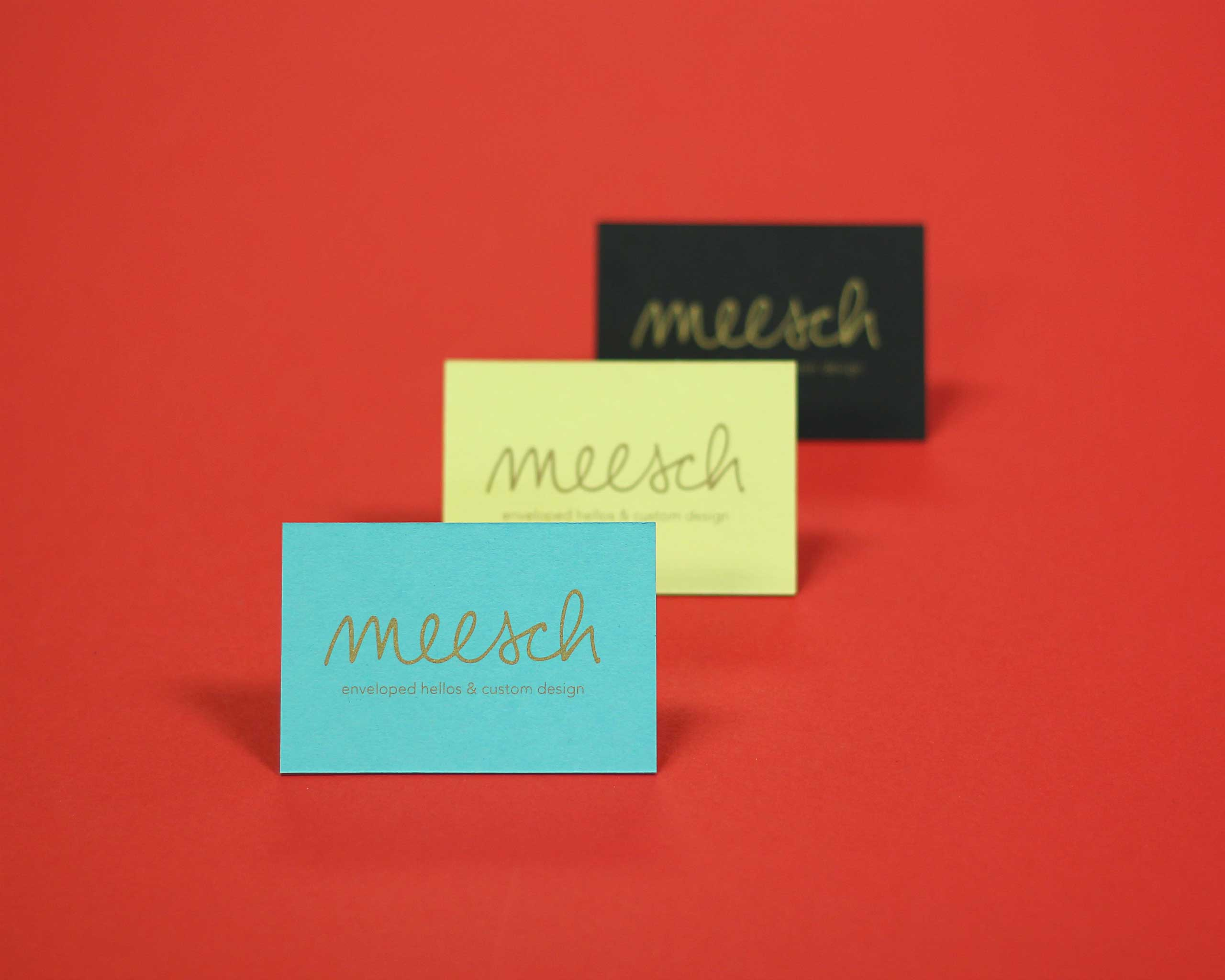 Michelle LaRocca screen printed business cards