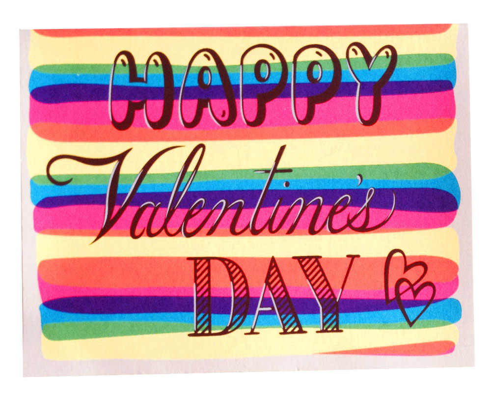 Beau Ideal Editions silkscreen Valentine's Day card