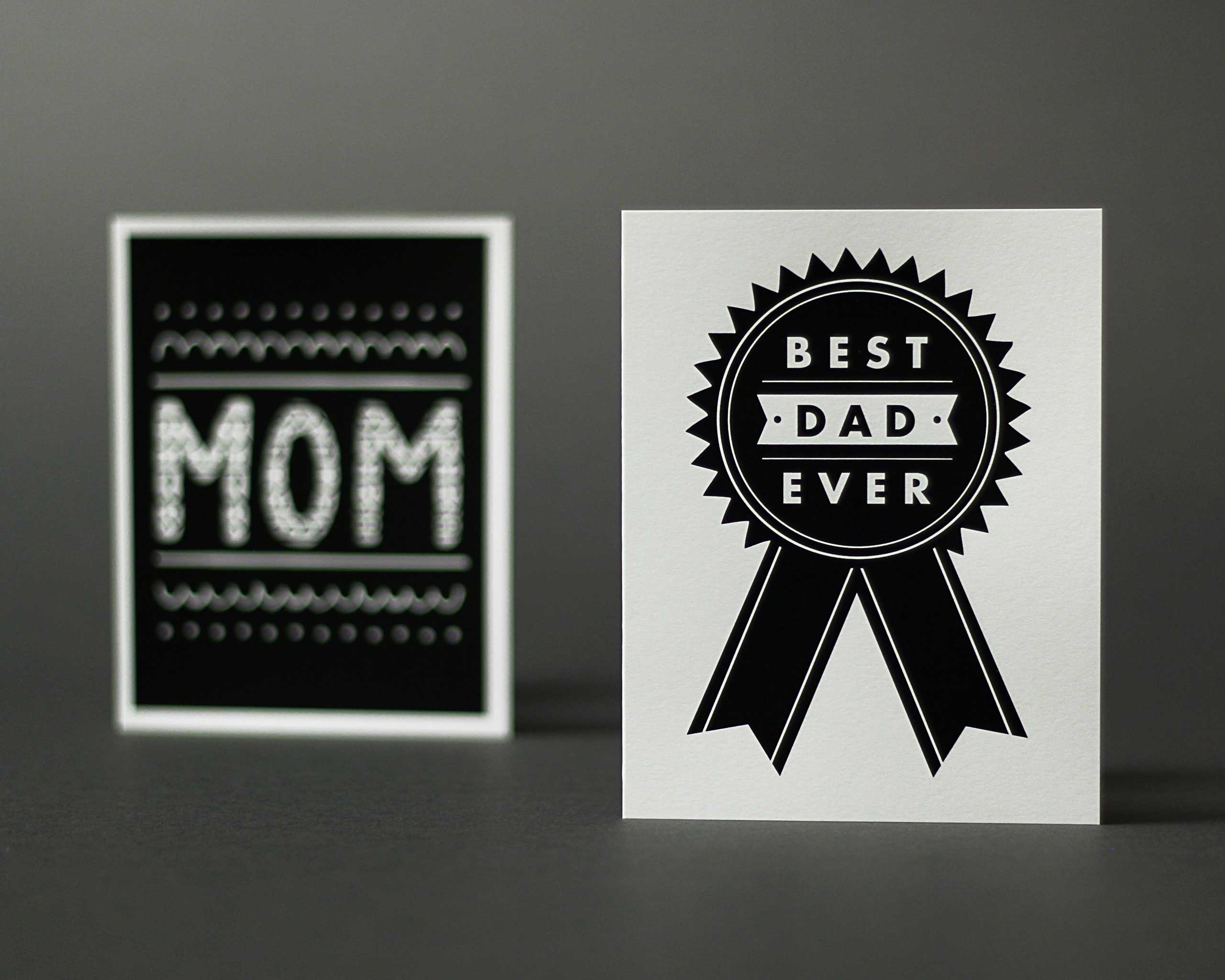 Paper Cub Best Dad Card