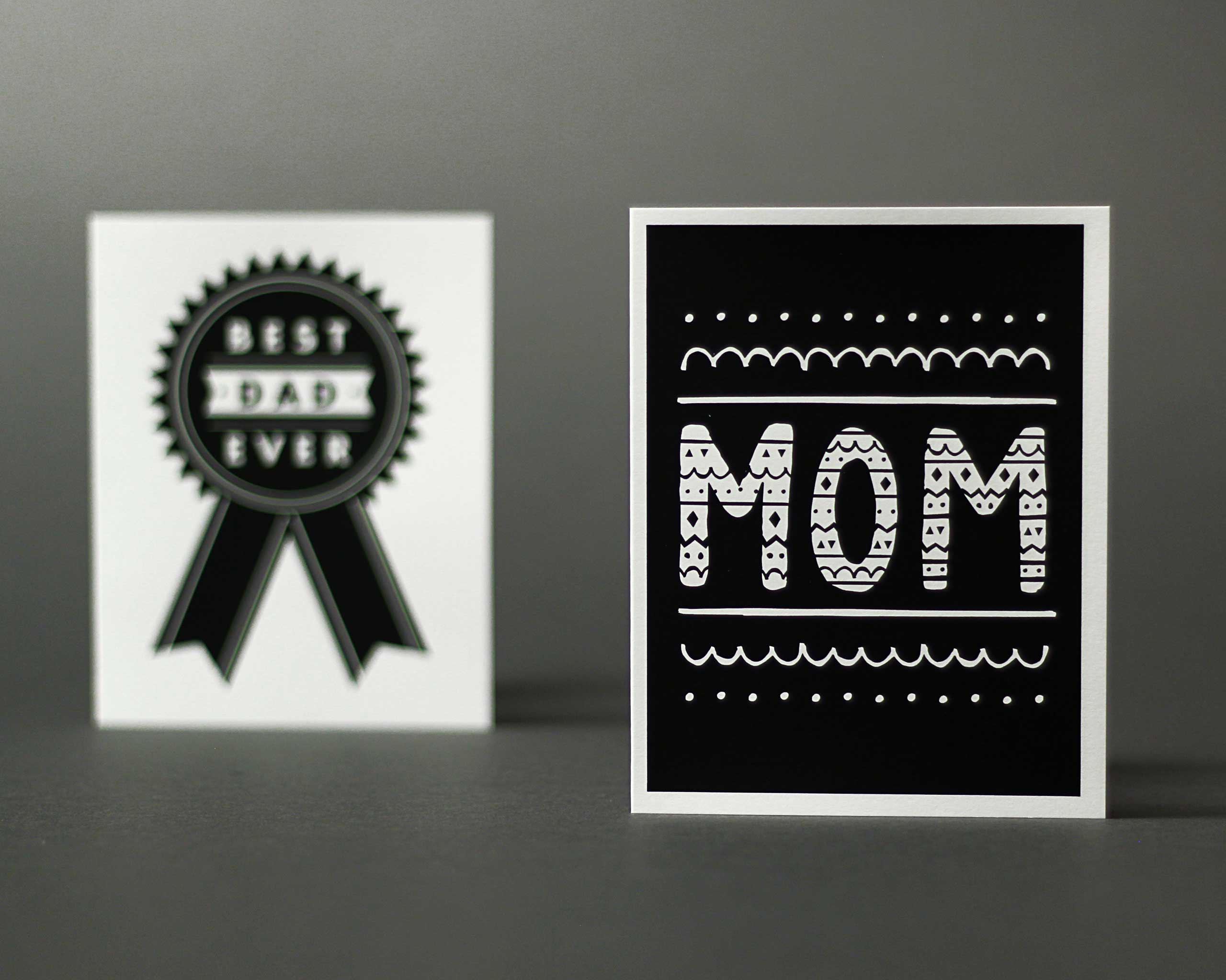 Paper Cub Mom Black Card