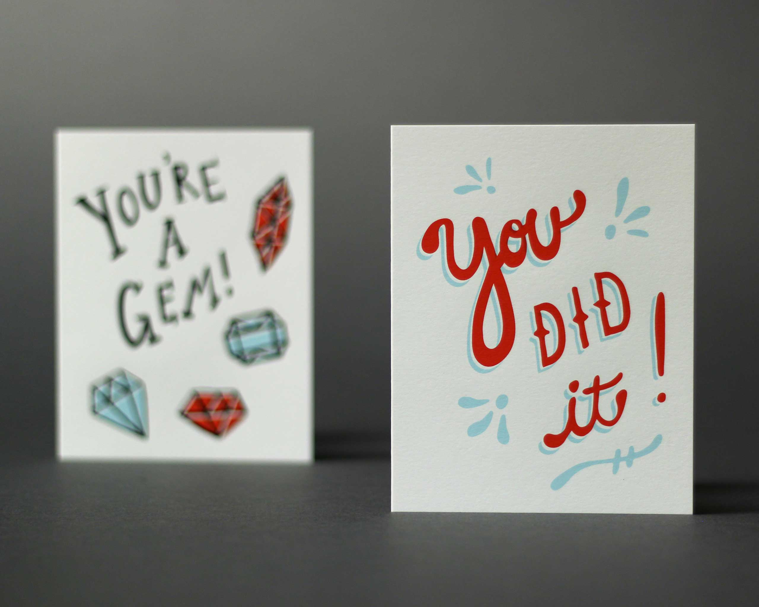 Paper Cub You Did It Card