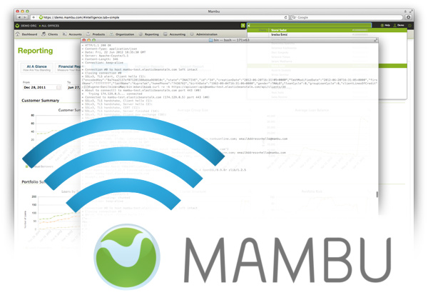 Mambu Logo and Screenshot