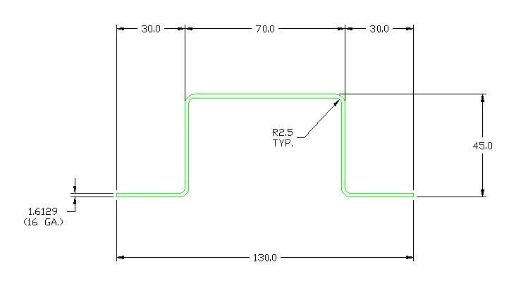 poteau de mur avant en acier galvanis manac. Black Bedroom Furniture Sets. Home Design Ideas