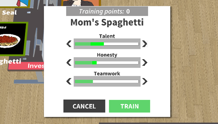 Training UI - choose wisely!