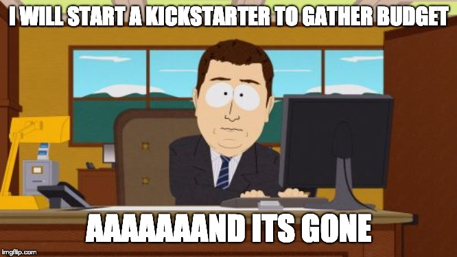 Kickstarter starts horrible