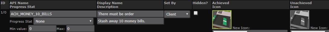 Fully configured Steam achievement
