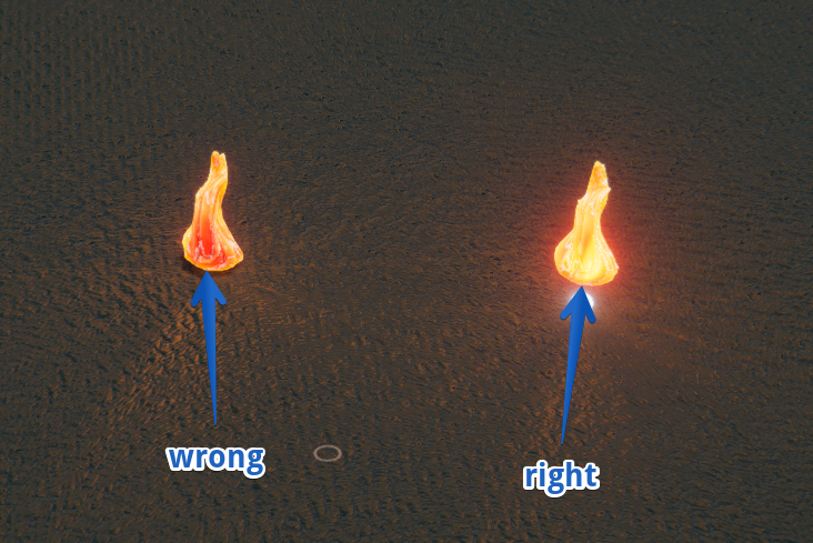 incorrect fire rendering