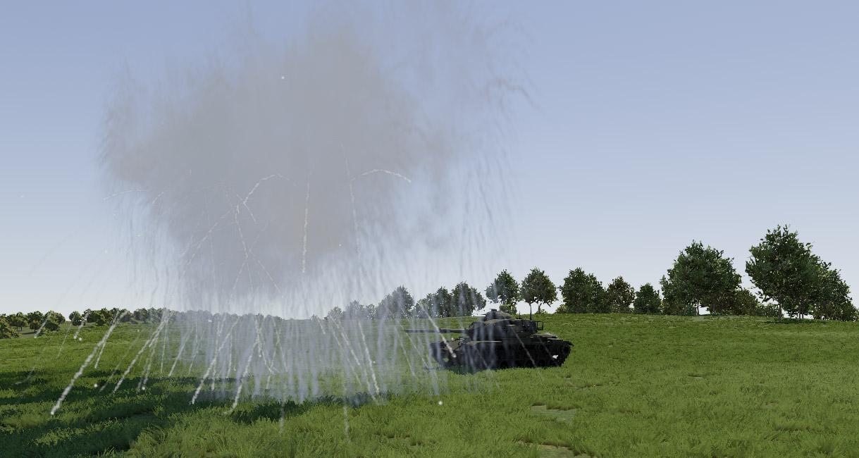 M60A3 smoke grenade test