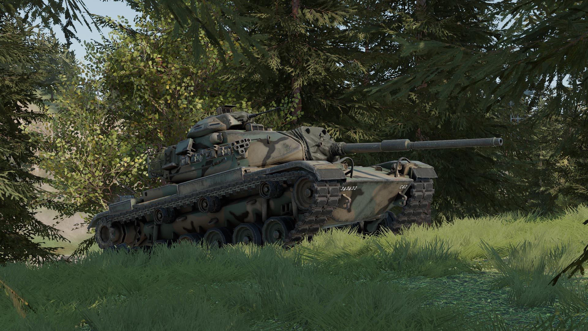 M60A3 TTS behind a hill