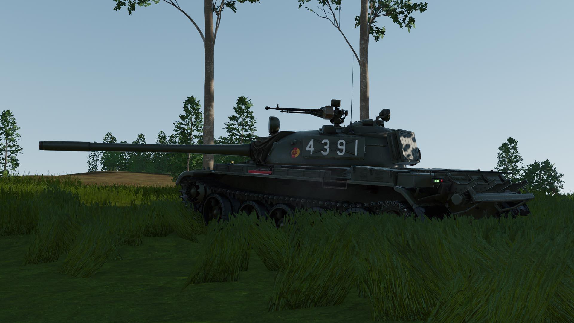 NVA T-55A on a hill