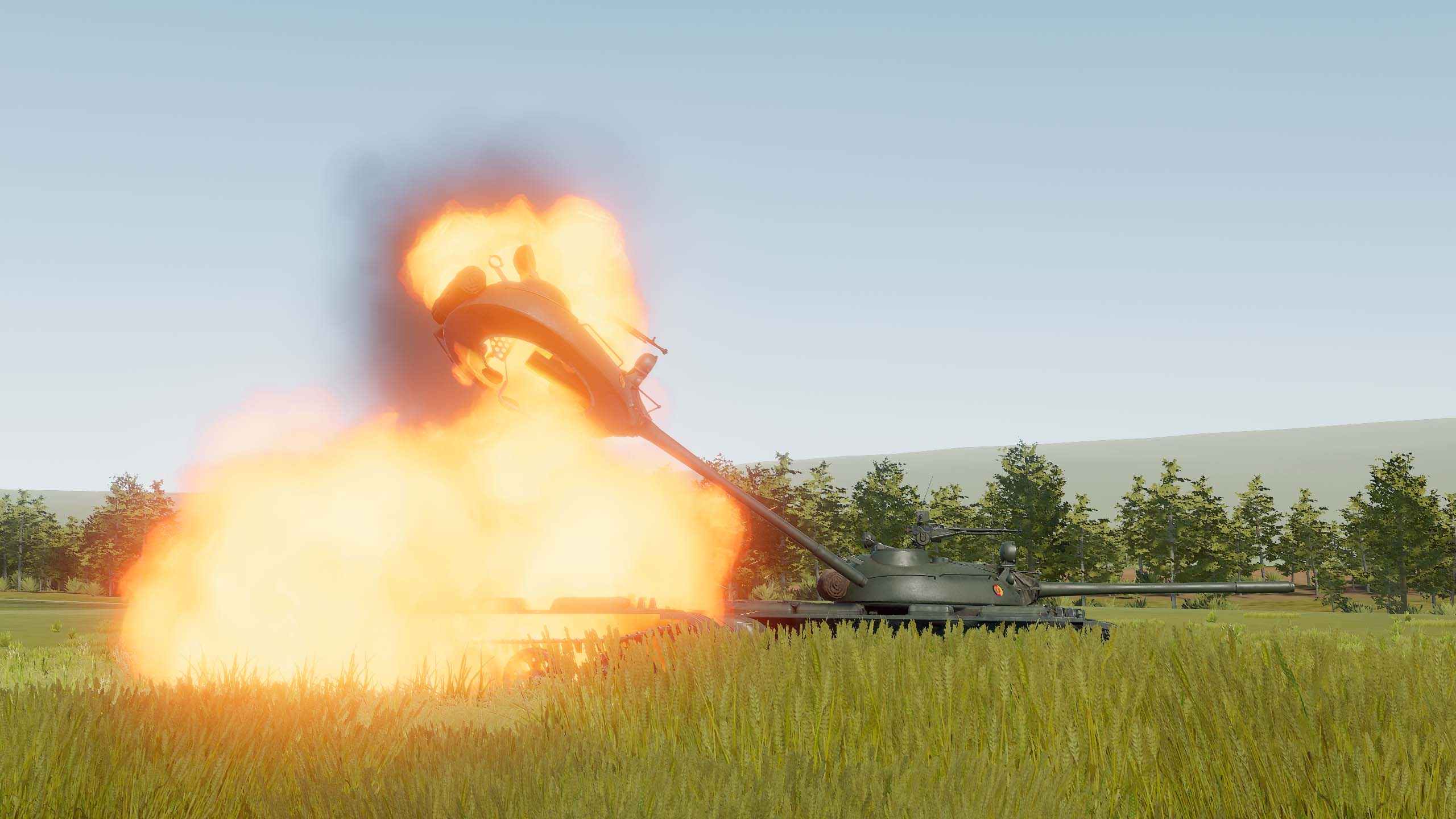 T-55A turret throw