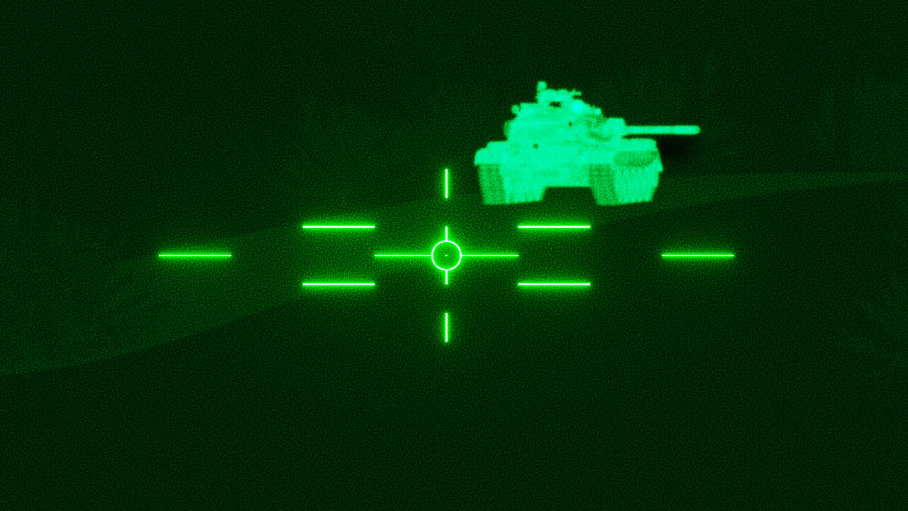 M60A3 tank thermal sight reticle