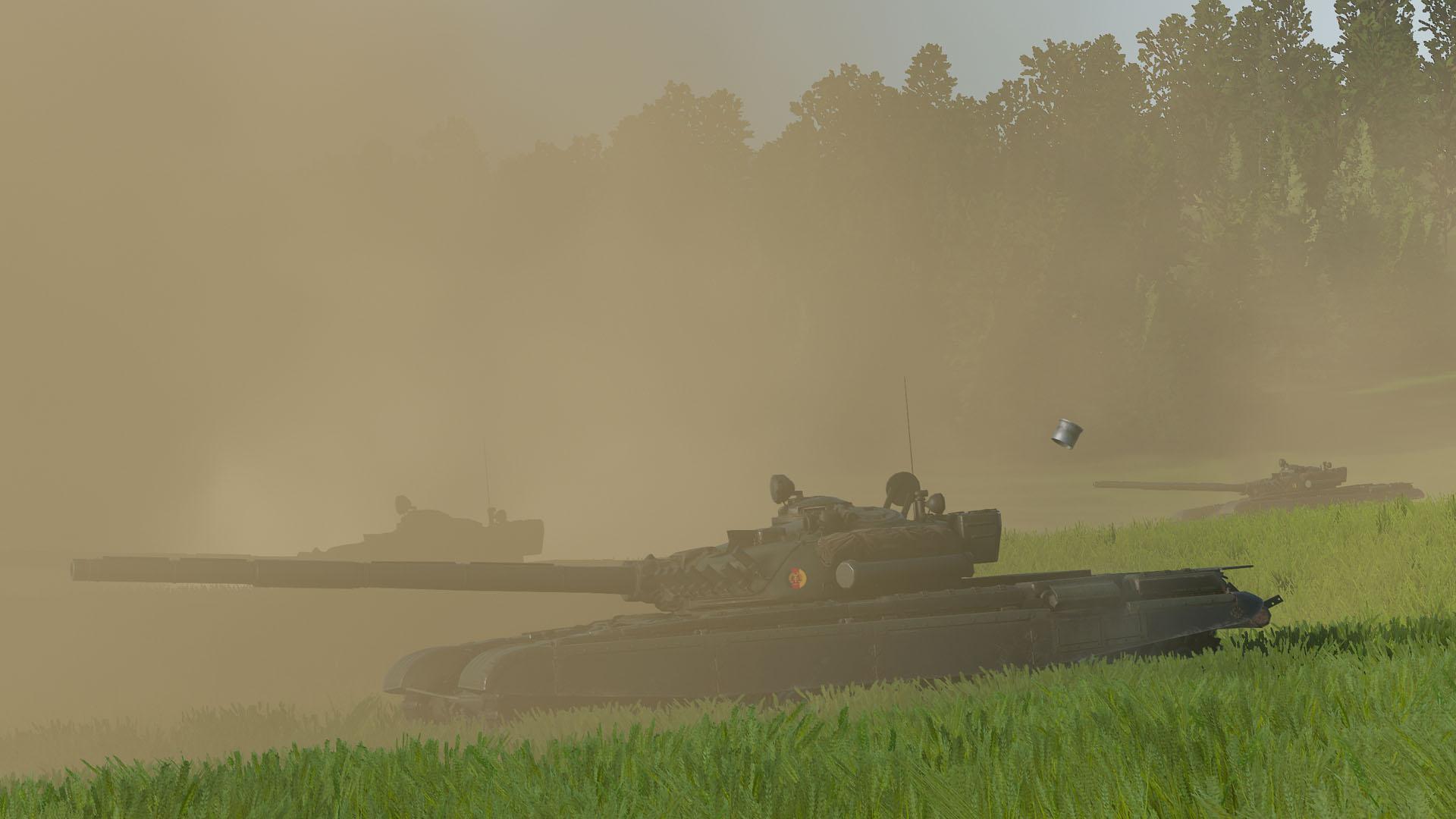 T-72s firing