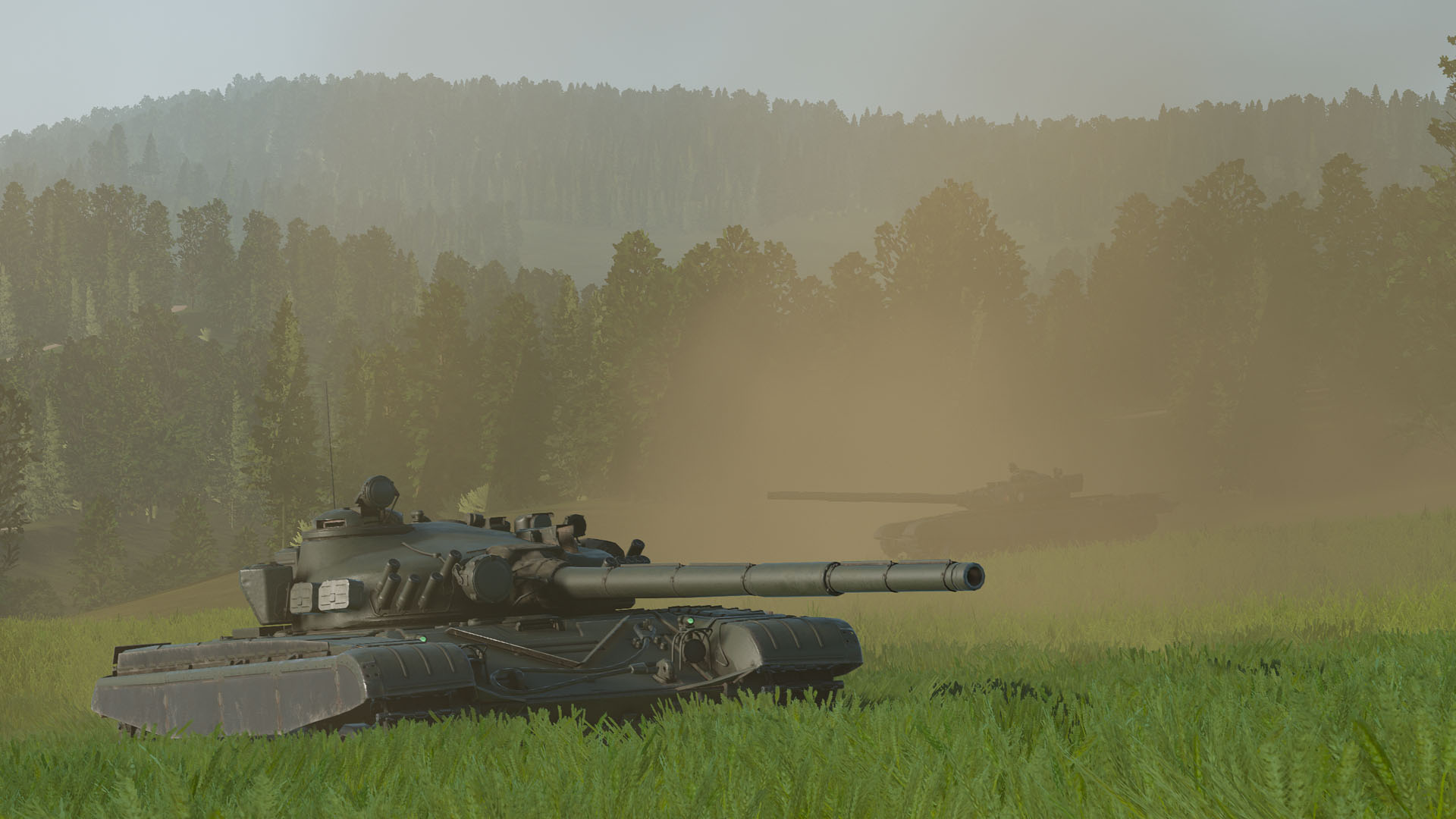 T-72M1 group in combat