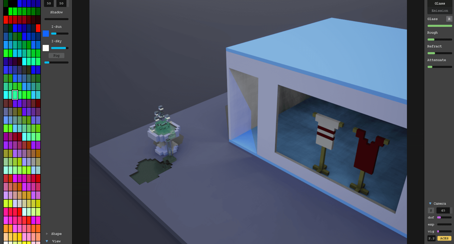 Example MagicaVoxel window