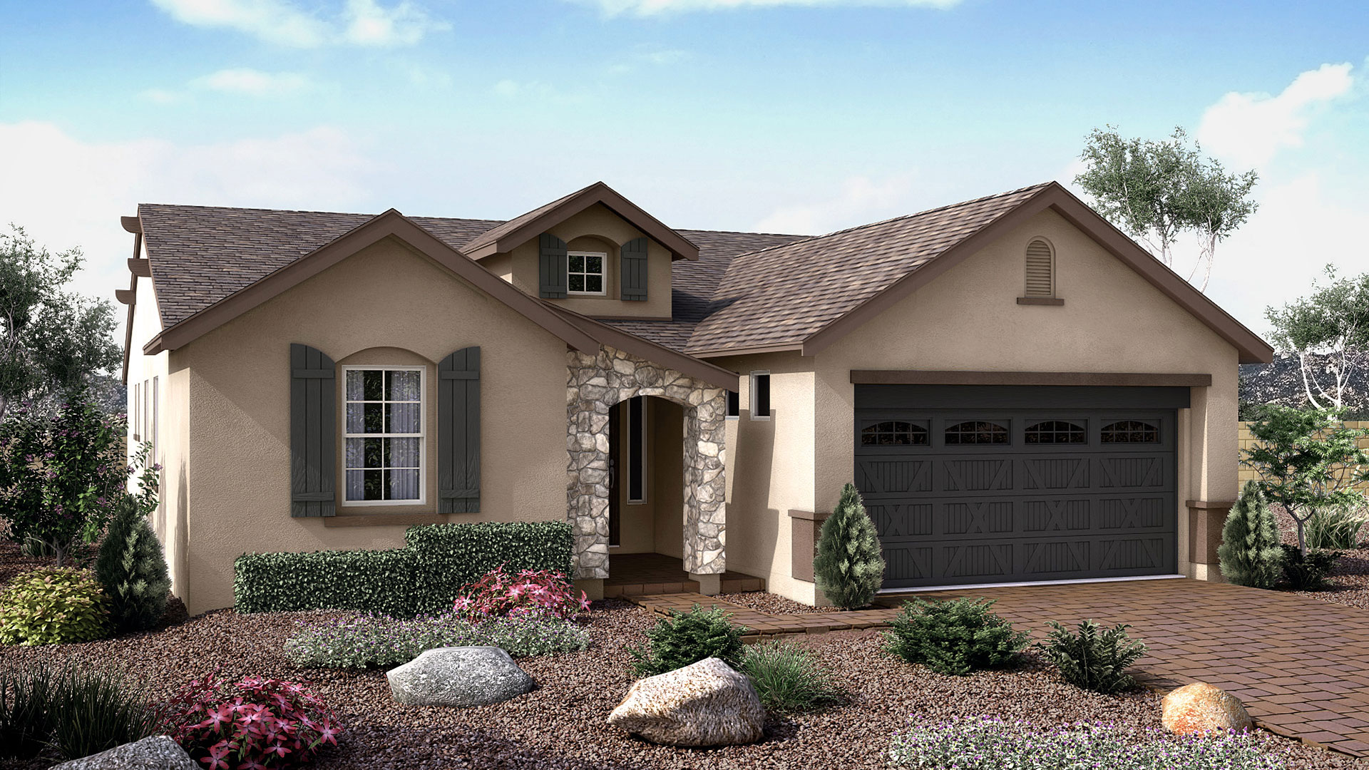 Daybreak floor plan in the overlook at the dells for Arizona house plans