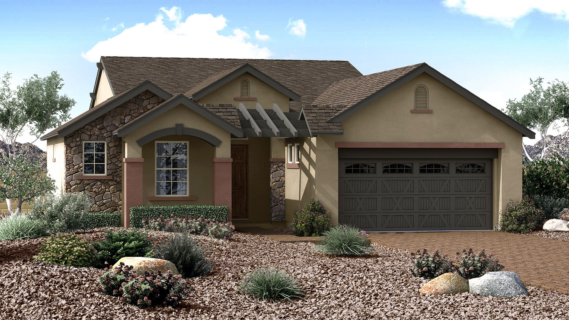 Morning sky floor plan in the overlook at the dells for Arizona home plans