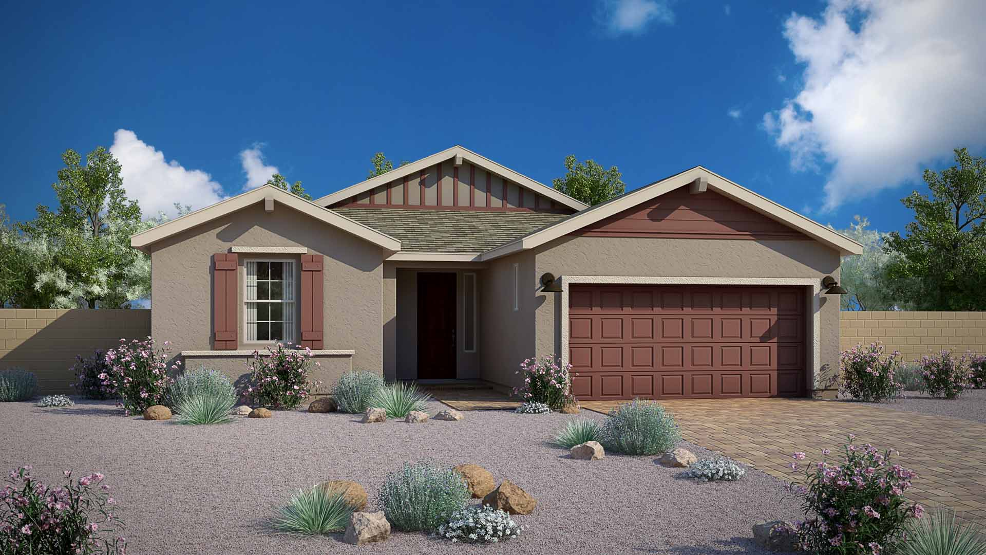 Daybreak House Plans Part - 20: Mountain Gate Traditions Daybreak Elevation A
