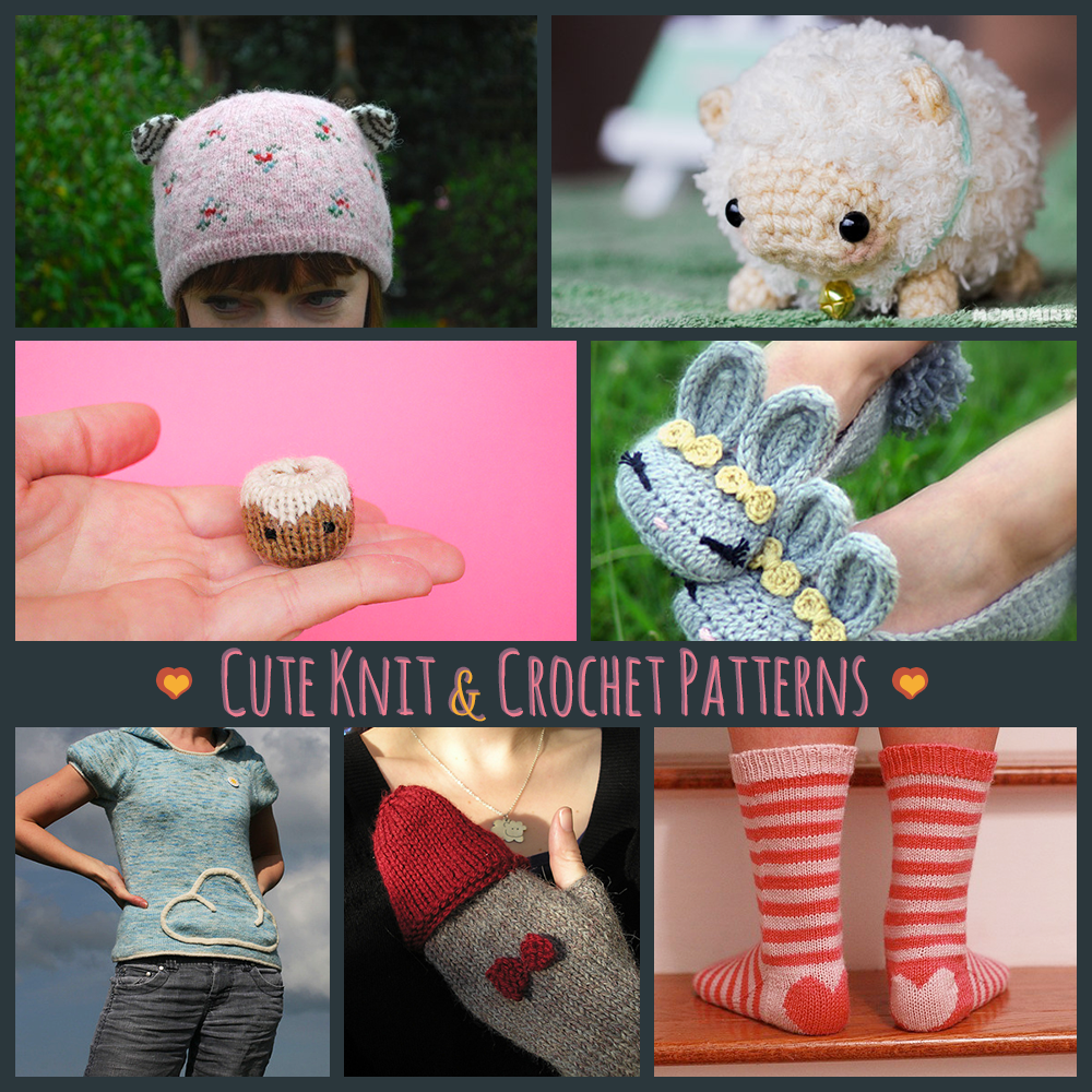 Cute knit and crochet patterns on Ravelry