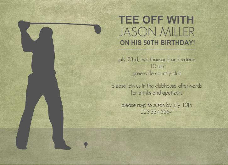Invite Golf Invitation Templates