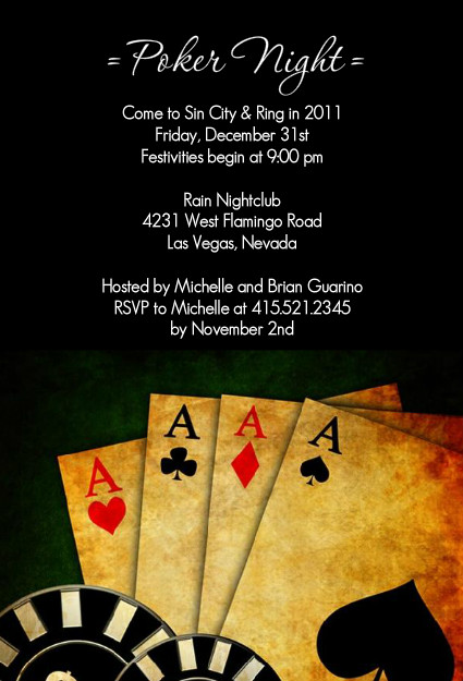 poker night casino party invitations poker night in. Black Bedroom Furniture Sets. Home Design Ideas