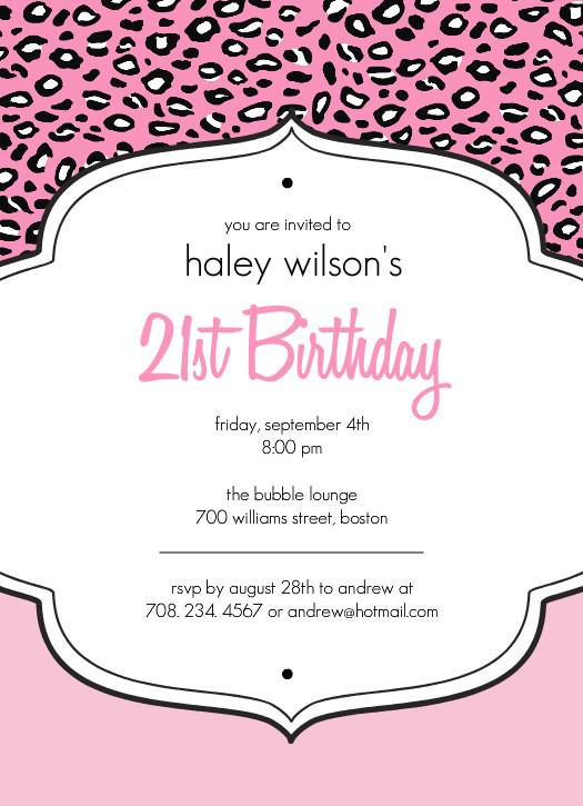 40th Birthday Ideas 21st Invitation Templates Free Download