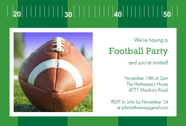 Football Party Invitations - Yardline Football Party ...
