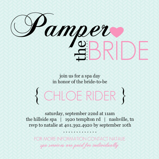 Wedding Charades Ideas: Pampered Pink And Blue Spa Party