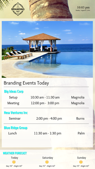 Hotel Event Directory