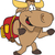 Bull backpacking