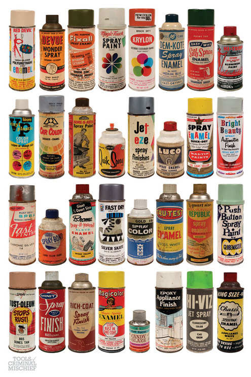 Amazing Collection Of Vintage Spray Paint Cans Man Made