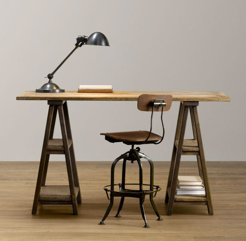 Brand-new How to Make a DIY Vintage-Inspired Sawhorse Trestle Desk | Man  DS67