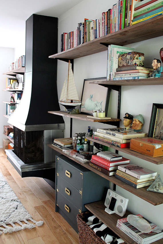How To Make A Rustic Shelving And Media Unit From