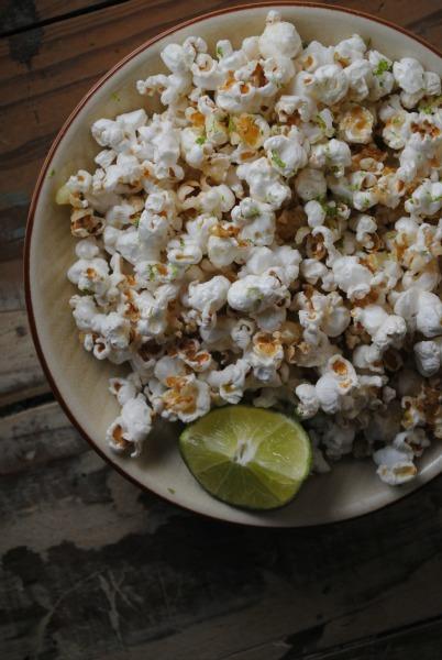 Chili tequila lime popcorn. Photo: Sweet Life [http://sweetlifebake.com/2012/09/27/chile-lime-tequila-popcorn/#axzz2Z5XBjzlH]
