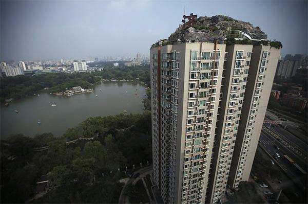 26th Floor Mountain on top of a building in Beijin