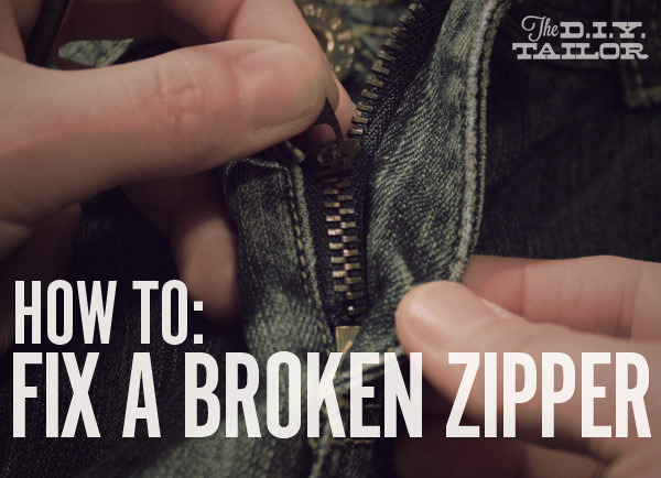 How to fix a zipper cover image