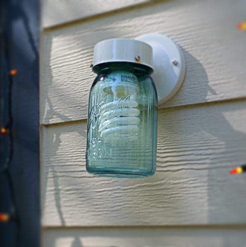 Mason Jar Porch Light DIY