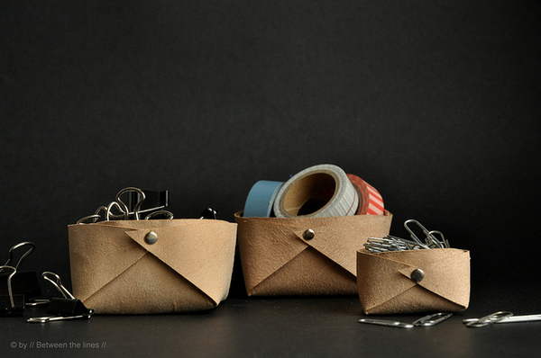 Leather basket DIY