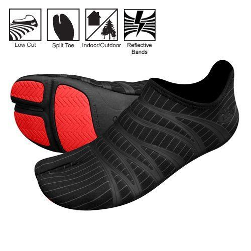 Ninja split toe running shoes