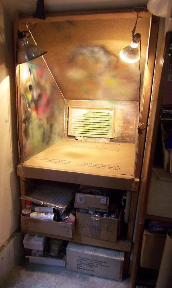 Make A Custom Spray Booth To Finish Projects Indoors Man