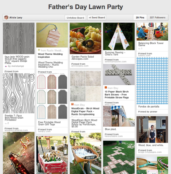 Father's Day Party Pinterest board