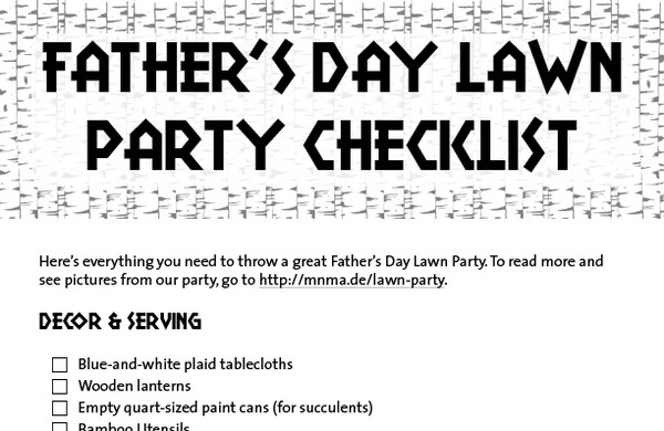 Father's Day Party templates and resources PDF download