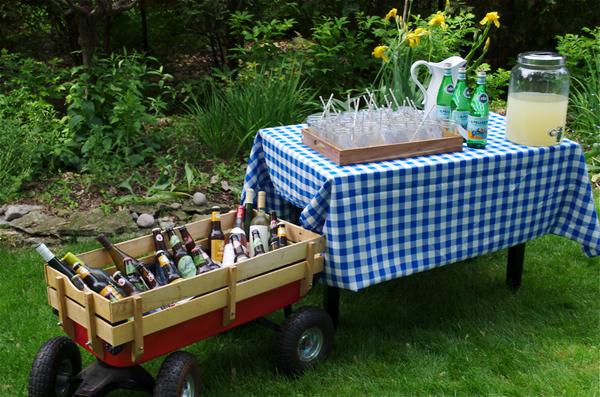 Lemonade, craft beer and wine