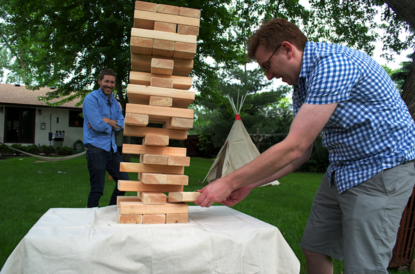 Giant Jenga for the win!